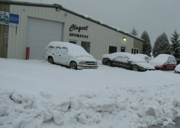 Cloquet Automotive snowed in